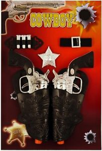 Twin-Cowboy-Gun-Holster-Fancy-Dress-Toy-Ranger-Bandit-Sheriff-Kids-Wild-West