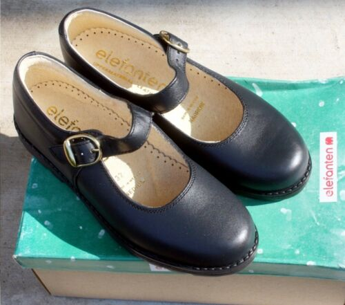Elefanten Kids Amanda Navy Leather Kids Shoes NIB