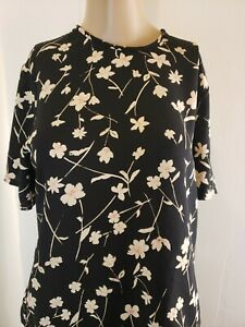 Pendleton Women's Blouse And Skirt Set Black Floral Size 4 Top Size 10 Skirt