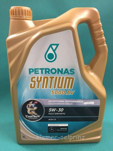 5 Litros Petronas Syntium 5000AV 5W-30 LongLife-3 VW 504.00-507.00 / Porsche C30