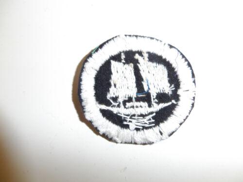 b4228 Vietnam RVN Navy Junk Force Beret badge embroidered Black white IR9A