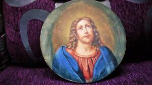 Painting Original Italian 1850 Jesus Christ Great Beauty Large Round 33x33 Ebay