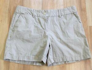 Ann-Taylor-Loft-Womens-Khaki-Shorts-Beige-Size-6-Pockets-Belt-Loops-Cotton