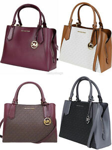 Michael-Kors-Kimberly-Large-East-West-Satchel-Brown-Merlot-Vanilla-Black-Rose