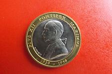 *Münze/Medaille Bi-Metall ca.36mm *Vatikan Papst Pius XII.  (Schub.3).