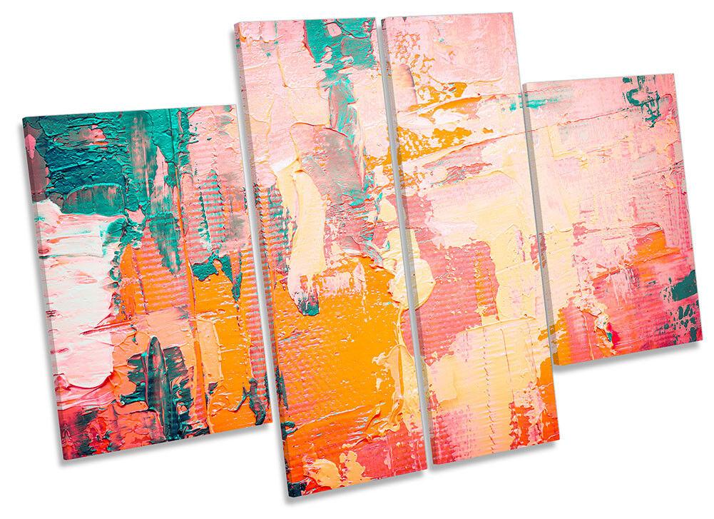 Lienzo Enmarcado cuatro abstracta Grunge Rosa Impreso cuatro Enmarcado Panel Pa rojo  Arte 90e2ba