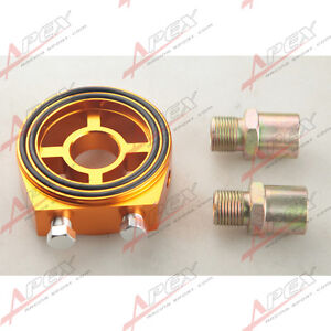 Oldruck-Temprature-Spur-Filter-Sandwich-Adapterplatte-Sensor-Goldene