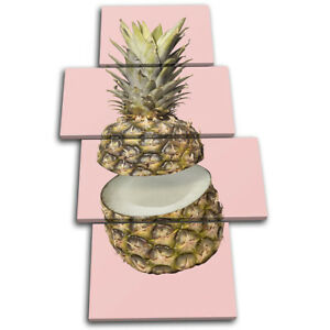 Pineapple-Coconut-concept-Food-Kitchen-MULTI-CANVAS-WALL-ART-Picture-Print
