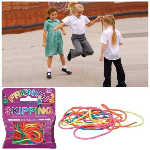 Kinder Mädchen Spielplatz 3M Französisch Skip Sprungseil Elastisch Toy Spiel