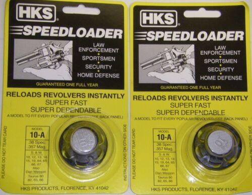 HKS 10-A Revolver Speedloader for S/&W 10,12,13,14,15,19,64,66,67 Taurus 66 38 sp