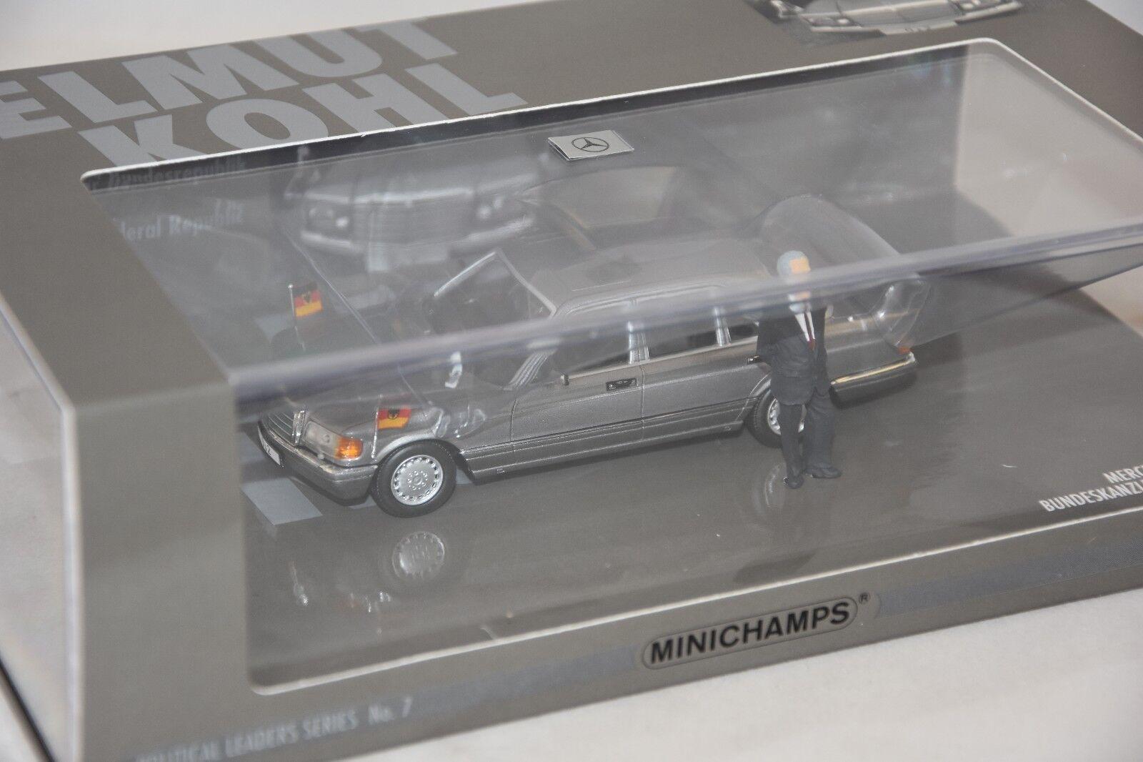 MINICHAMPS 436039300 - MERCEDES BENZ 500 SEL (W126) - 1989 - HELMUT KOHL  1 43