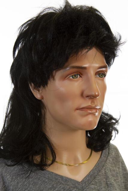 Wig Carnival Chav Assi Black Mullet half Long Men Wig 20781-P103 New