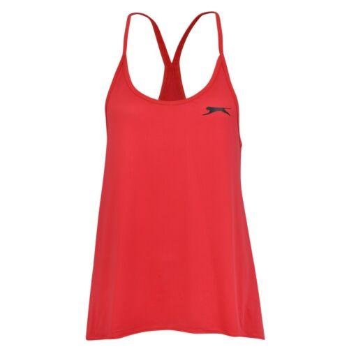 Nouveau Slazenger Swing Débardeur Tank Top Femme Gym Entraînement Fitness Rose Noir