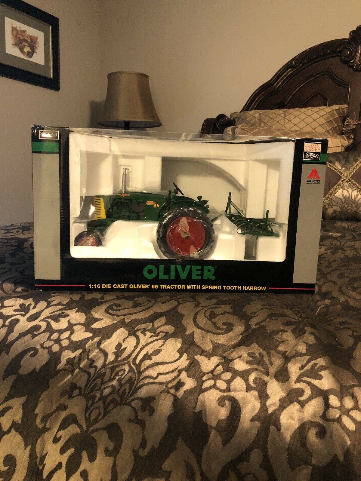 Oliver 66 With Spring Tooth Harrow Toy Tractor Times Edition  By SpecCast