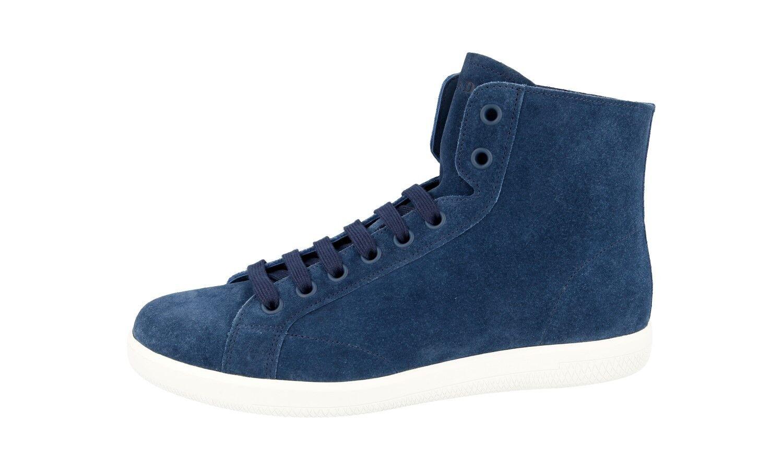LUSSO PRADA High Top scarpe da ginnastica Scarpe Scarpe Scarpe 4t3149 BLU CAMOSCIO NUOVO NEW 8 42 42,5 | Conveniente  3c3f1f