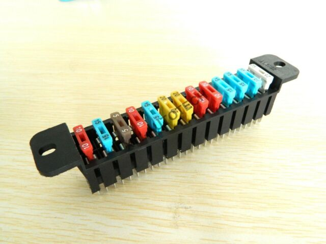 Fuse box 13ways multi-channel fuse holder with fuse for Russia car&Universal car