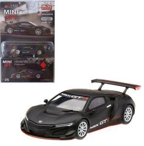 TSM-1-64-MINI-GT-Honda-NSX-GT3-Presentation-Diecast-Model-Matte-Black-MGT00025