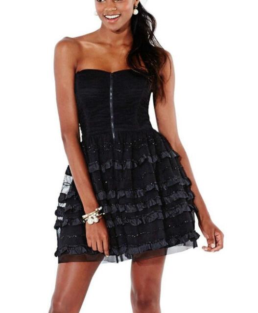 Betsy Adam Black Tulle Zip Front Semi Formal Dress 2 Ebay