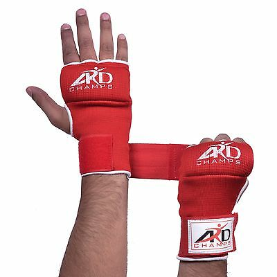 ARD FOAM PADDED INNER GLOVES WITH WRAPS MUAY THAI BOXING MARTIAL ARTS  S-XL