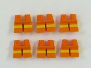 LEGO 2 x  Short Legs Leg For Minifigure Figure Pink Yellow Stripe