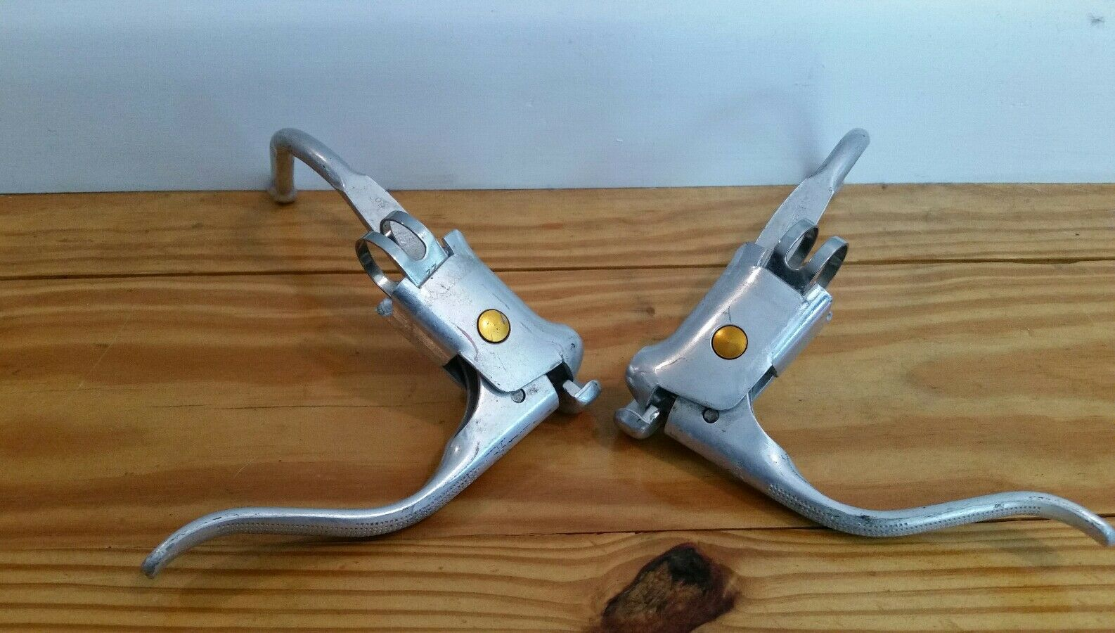 1976 Schwinn Approved Dia Compe gold Dot Brake  Levers Japan Classic Road 70's  high-quality merchandise and convenient, honest service