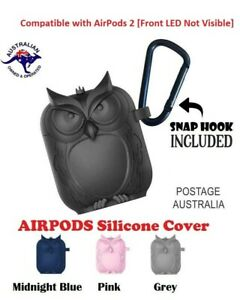 Apple-Airpods-1-amp-2-Silicone-Protective-Cover-Owl-Shaped-Case-Slim-Skin-Durable