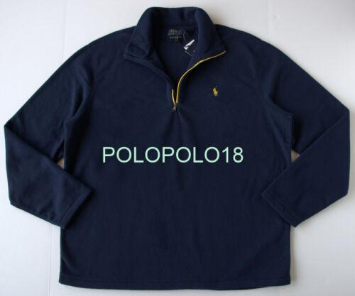 New $98 Polo Ralph Lauren Pony Performance Half Zip Fleece Sweater S M L XL 2XL