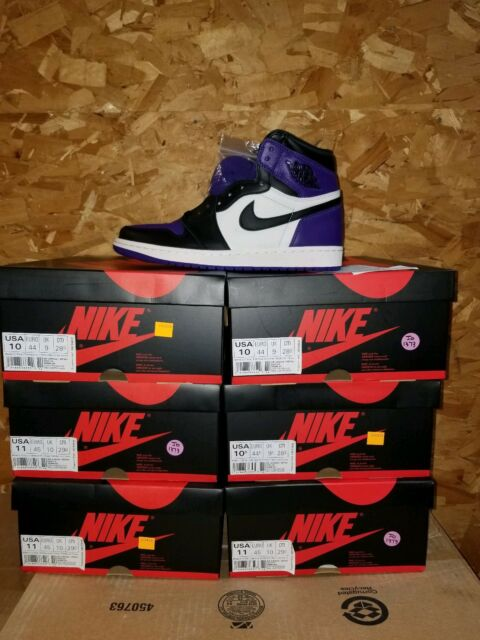 f5f01d23146 DS Nike Air Jordan Retro 1 High OG Court Purple Sail 555088-501 Size 11