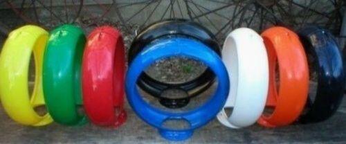 """Gas Pump Globe Plastic Body 13.5/"""" Cabin Man Cave Home Den Garage Shop Barn Decor"""