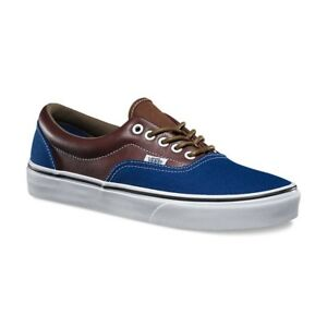 1f9a65d352 Vans Era (leather Plaid) Estate Blue  Potting Soil- Men s Sk8 Size 7 ...