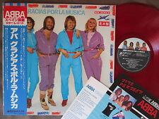 Promo! ABBA GRACIOUS POR LA MUSICA JAPAN-ONLY Color LP w/OBI+FLYER DSP-8002
