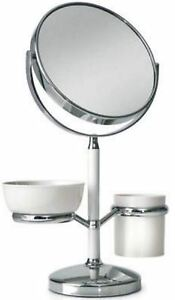 BLUE-CANYON-COSMETIC-TABLE-SHAVING-MAKE-UP-MIRROR-STAND-TWO-HOLDER