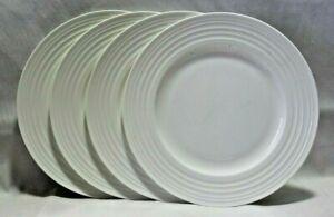 Mikasa-Ciara-White-Bone-China-9-034-Salad-Plates-Set-of-Four-New