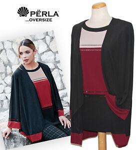 purchase cheap ab575 12f0f Dettagli su Completo twin set donna taglie OVER made in Italy PERLA  OVERSIZE mod. Vittoria