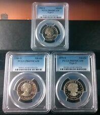 $1 COMPLETE SBA DOLLAR TI COIN SET PCGS PR69DCAM $1 1979-S,1980-S,1981-S #3US-15