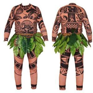 maui oceania costume carnevale  costume carnevale indigeno maori vestito tatuaggi maui vaiana ...