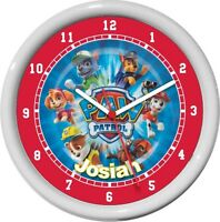 Personalized Paw Patrol Wall Clock Child Boy/girls Room Cute Gift