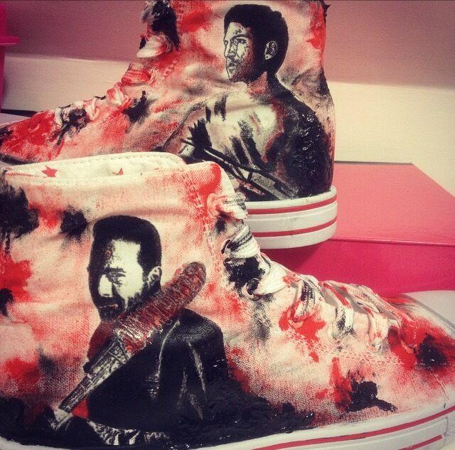 Negan Lucille Daryl Dixon The Walking Dead Rick Grimes personalizado personalizado personalizado de alta Tops  vendiendo bien en todo el mundo