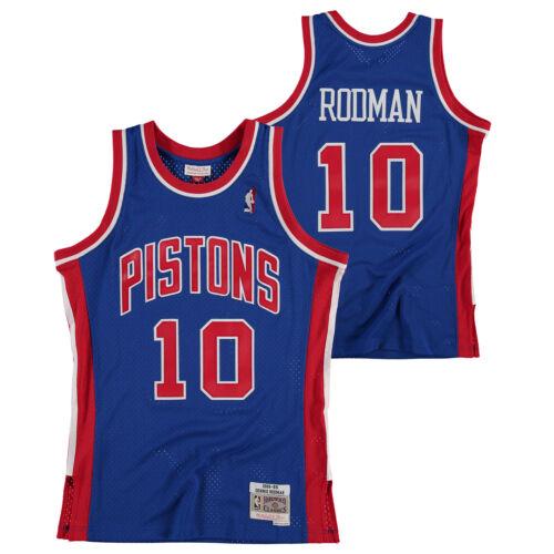 Detroit Pistons Dennis Rodman Hardwood Classics Road Swingman Jersey Shirt Mens