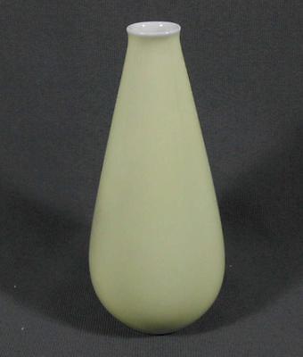 Kleine Fürstenberg Vase Form 1218 Dekor 01886/4 pastellgelber Fond, Top-Zustand
