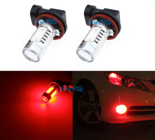 2Pcs H16 7.5W Bright Red Fog Light Projector Bulbs LED DRL Replacement Lamp