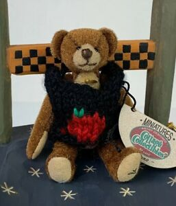 Ganz Cottage Collectibles Miniatures Bruno Bear Nwt And Bag Ebay