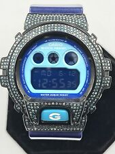 Casio Men's Sport Watch DW6900CC 6 G-Shock Metallic Hand Set Blue Diamond 2.5CT
