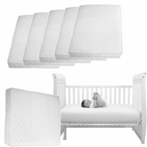 Pocketed Spring Baby Toddler Cot Bed Breathable QUILTE WATERPROOF Foam Mattress