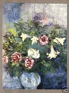 CHAGALL-1935-LITHO-PRINT-w-COA-unique-gift-present-Marc-Chagall-VERY-RARE-ART
