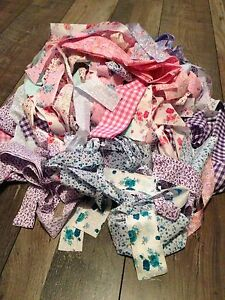 Beautiful-fabric-material-scrap-bundle-remnants-Same-Day-Free-Postage-100g