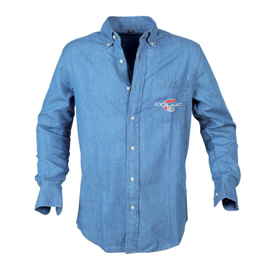 Camicia Colmic Light Denim Official Team Abbigliamento Pesca Varie Taglie RNG