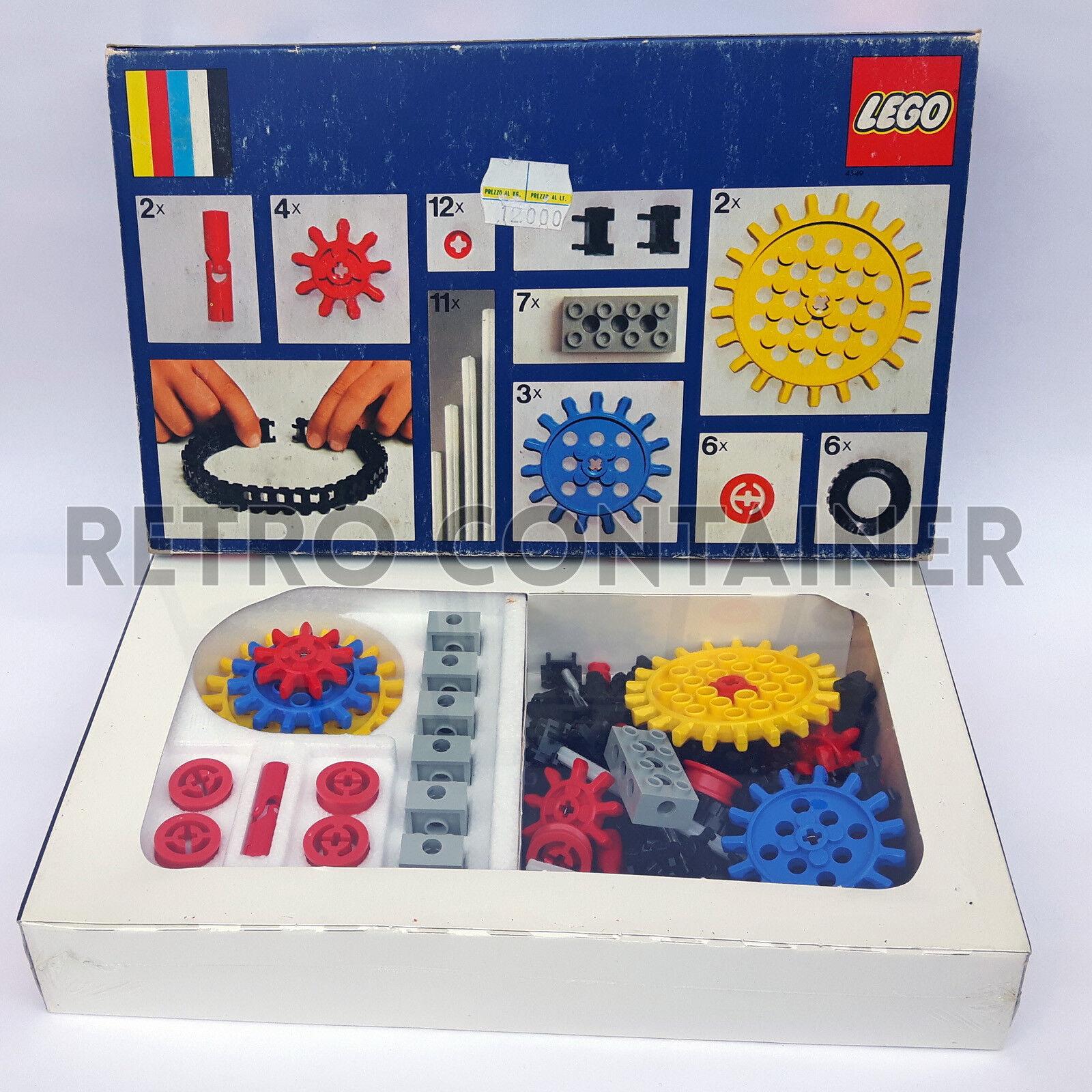 LEGO NEW Set MISB Sigillato 812 - Supplementary Gear Set 1974 Universal Building