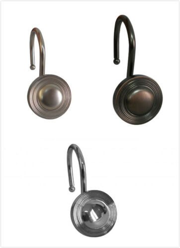 Pack of 24 Metal Rings Decorative Polished Multiple Circle Shower Hook Set