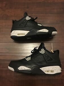 883bdc81ea85e Details about NIKE AIR JORDAN 4 RETRO LS 314254-003 Black - Tech Gray OREO  - SIZE 8.5